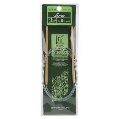 "12 sizes; Choose Size Clover Bamboo 48/"" Circular Knitting Needles"