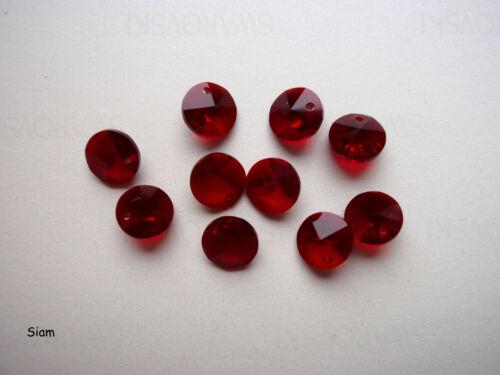 10 Swarovski ® cristal perlas remolque Diskus pendant 8mm artículo 6200 opción de color