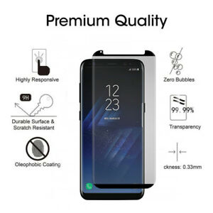 DernièRe Collection De Samsung Galaxy S8 Plus Case Friendly 4d Clear Hd Verre Trempé Protecteur D'écran-afficher Le Titre D'origine