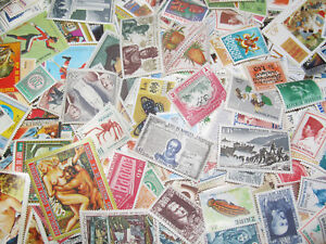 Lot-x100-Timbres-Poste-Neuf-Differents-sans-Charniere-New-Stamps-Tout-Pays
