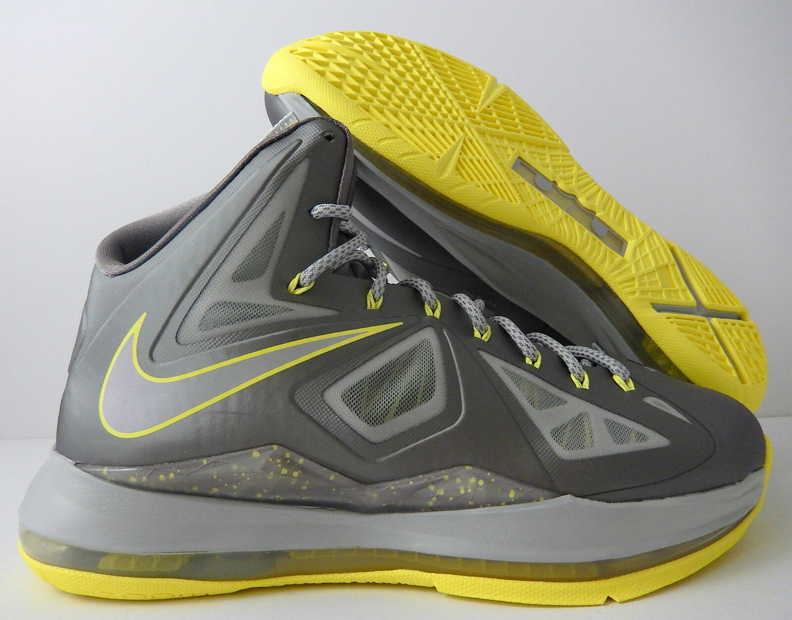 NIKE LEBRON 10 X SPORT GREY-ELECTRIC YELLOW Price reduction Great discount
