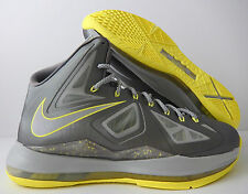 huge selection of b7bc2 33b26 item 2 NIKE LEBRON 10 X SPORT GREY-ELECTRIC YELLOW SZ 9  541100 007  -NIKE  LEBRON 10 X SPORT GREY-ELECTRIC YELLOW SZ 9  541100 007