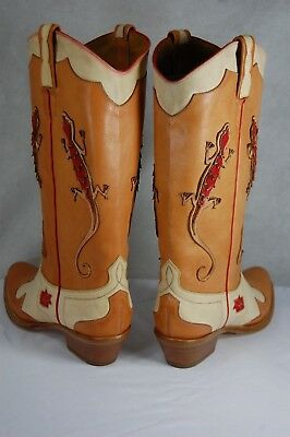 RALPH LAUREN COLLECTION SAGE TAN VACHETTA LEATHER RIDING BOOTS MADE IN ITALY