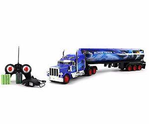 Heavy Duty Diesel Remote Control Semi Electric R/C Truck LED Cargo Trailer Toy