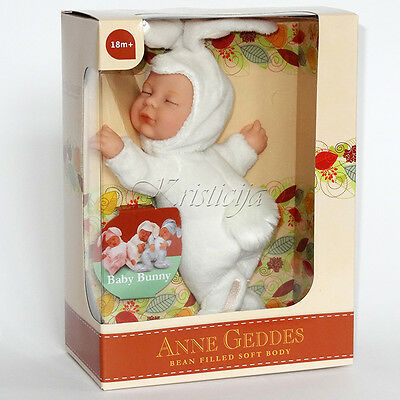 Art Dolls-ooak Dolls & Bears Learned Anne Geddes Dolls 'bean Filled' Collection New In Box Baby White Bunny Doll 9'' Clients First
