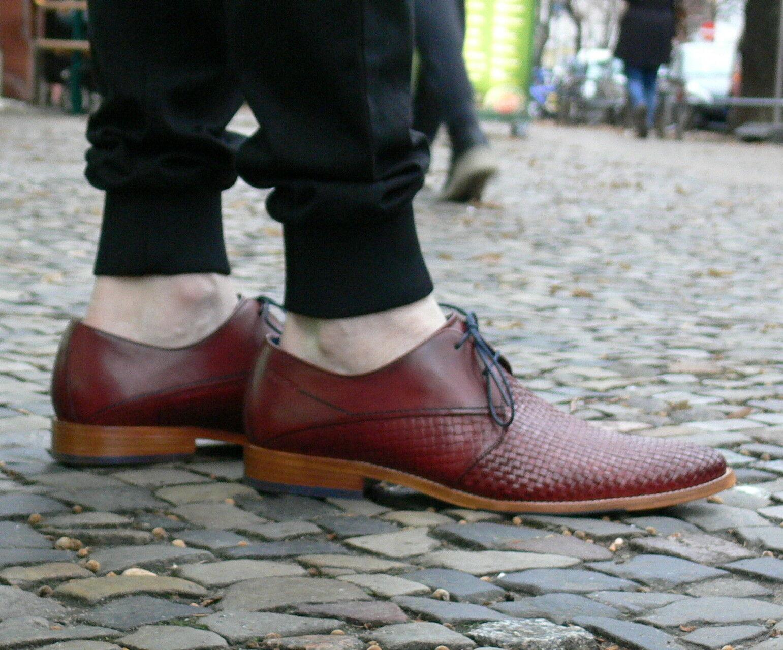 Daniel Hechter Herrenschuhe Louie rot 811-22905-1000-30 Business-Schuhe NEU SALE