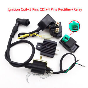 Regulator-Rectifier-Relay-Ignition-Coil-CDI-For-50-70-90-110cc-ATV-Quad-Pit-Bike