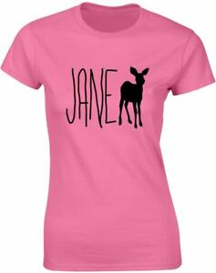 Brand88-Jane-Doe-Ladies-Printed-T-Shirt-Casual-Crew-Neck-Tee-Top-for-Women-s