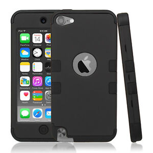 Premium-Shock-Absorbing-Hybrid-Armor-Rubber-Case-Cover-For-iPod-Touch-5th-6th