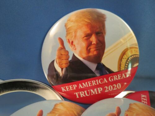 WHOLESALE LOT OF 22 TRUMP KEEP AMERICA GREAT 2020 THUMBS UP CAMPAIGN BUTTONS 3/""