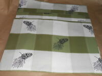 Jc Penney Home Collection Pine Cone Place Mats Beige & Green X 4