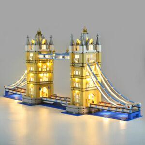LED-Beleuchtung-Licht-Kit-Fuer-LEGO-10214-London-Tower-Bridge-Spielzeug-DIY-Light