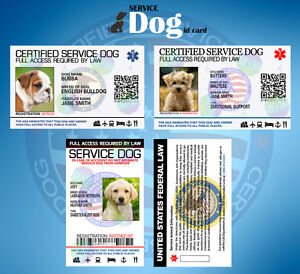 2bcf8c8f45d1 Image is loading CUSTOMIZE-EMOTIONAL-SUPPORT-THERAPY-SERVICE-DOG-ID-CARD-