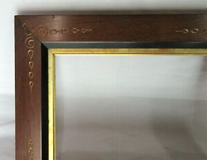 "Antique Fits 6.5"" x 8.5"" Eastlake Gold Gilt Wood Picture Frame Country Victorian"