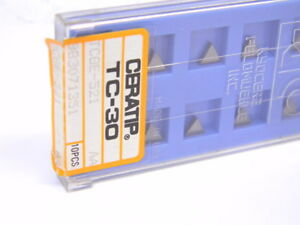 NEW-SURPLUS-10PCS-CERATIP-TCGE-521-GRADE-TC30-CARBIDE-INSERTS