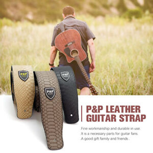 Acoustic-Classic-PU-Leather-Electric-AU-Guitar-Strap-Soft-Basses-Luxury-73