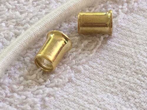 Lot of 2 Metal Fastners Ferrules and elastic cord for American Girl repair
