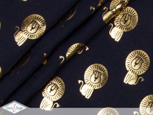Jersey de tela metálica lion//león de oro a partir de 0,5 M
