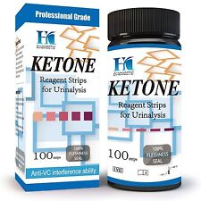 HK Ketone Test Strips 100 Urine Strips Check Ketosis Levels Track Your Low