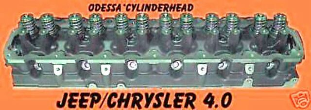 Rebuilt Jeep 4.0 Cherokee Laredo Complete Cylinder Head 0331 Casting