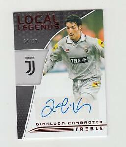 2018-19 Panini Treble Soccer Autograph Auto Card :Gianluca Zambrotta #36/99