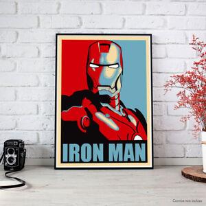 IRON-MAN-Shepard-Fairey-the-Avengers-Maxi-Poster-fino-a-70x100-HQ