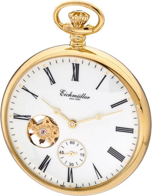 Eichmüller 8227-02, SKELETON + KETTE + BOX, žepna ura - pocket watch -Taschenuhr