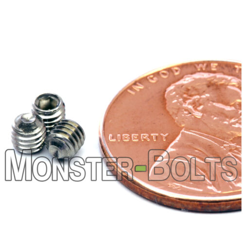 M3-0.50 x 3mm  Stainless Steel Socket Set Screws CUP Point DIN 916 A2-70