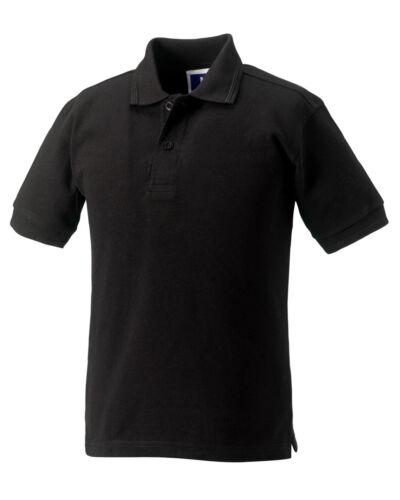 Kids Unisex Top Jerzees Schoolgear Children/'s Hardwearing Polycotton Polo Shirt