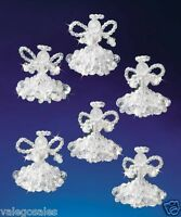Beadery Beaded Craft Kit Crystal Angels Christmas Ornament Set 2 Each 5538