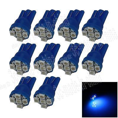 10X Car Blue 5 LED 1210 SMD T10 W5W Bulb Wedge Side Light Corner Bulb Lamp A022