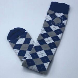 802c38b2 Details about Indianapolis Colts NFL Knee High Argyle Crew Socks