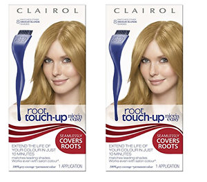 Clairol Nice N Easy Root Touch-Up, Hair Color, Medium Golden Blonde ...