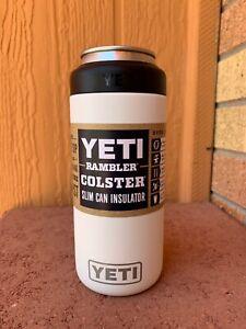 YETI-Rambler-Colster-SLIM-Can-Insulator-WHITE-Brand-New-Fast-Ship