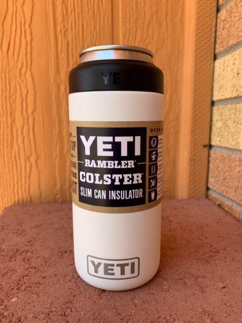 YETI Rambler Colster SLIM Can Insulator WHITE - Brand New - Fast Ship