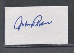 Johnny-Podres-Signed-3X5-Index-Card-Dodgers-1953-Debut-Flat-Rate-Ship