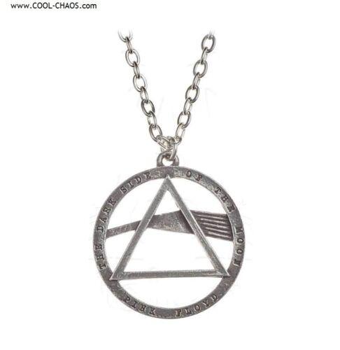 Pink Floyd Necklace - Official Licensed Pink Floyd Merchandise-Pewter DSOD Prism