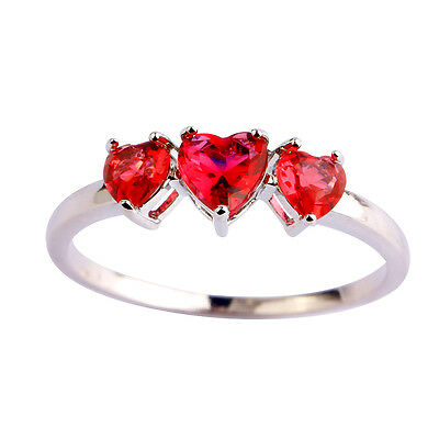 Sapphire White Topaz Gemstone Fashion Women Men Luxury Silver Ring Size 7 8 9 10