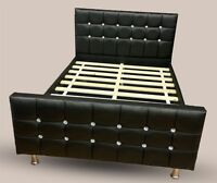 Beds For Sale Best Price Faux Leather Black Single Beds Double Beds Made In Uk