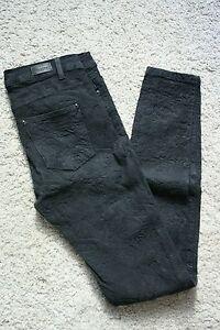 16823f0f2a Dettagli su Pantaloni jeans skinny Pull and Bear jacquard damascato grigio  scuro EU 34 IT 38