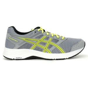ASICS Men's Gel-Contend 5 Sheet Rock/Safety Yellow Running Shoes 1011A256.025...