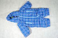 Baby Jungen Winter Overall Schneeanzug blau kariert 62/68 NEU!!!