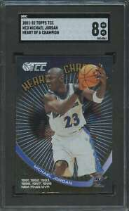 2001-02 TOPPS TCC HEART OF A CHAMPION MICHAEL JORDAN SGC 8