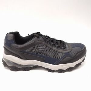 efc183a203ba New Skechers Mens After Burn Memory Fit Air Gray Blue Athletic Shoes ...