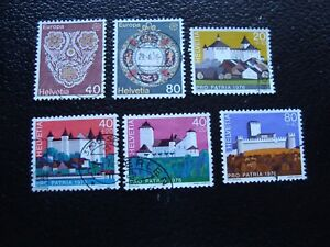 Switzerland-Stamp-Yvert-and-Tellier-N-1003-A-1008-Obl-A2-Stamp-Switzerland