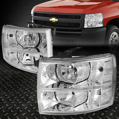 07-13 CHEVY SILVERADO//14 2500//3500 HD CRYSTAL HEADLIGHTS LAMPS SMOKE LEFT+RIGHT