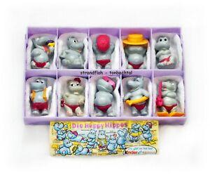 Happy-Hippos-Ferrero-Satz-1988-mit-Zubehoer-und-1-BPZ