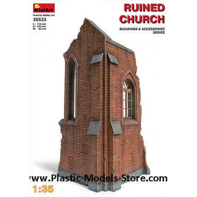 1/35 Ruined Church MiniArt 35533 Models Kits