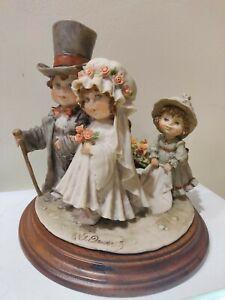 G-Armani-Capodimonte-BRIDEGROOM-FLOWER-GIRL1982-Florence-Figurine