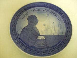 Royal-Copenhagen-Hans-Christian-Orsted-Plate-1777-1977